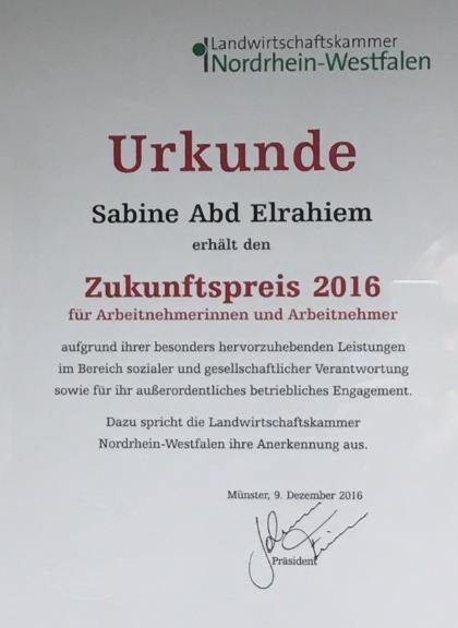 Auszeichnung für Frau Abd Elrahiem